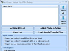 Excel Import Multiple Word Files Software 7.0 Screenshot