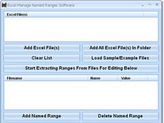 Excel Manage Named Ranges Software 7.0 Screenshot