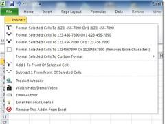Excel Phone Number Format Software 7.0 Screenshot