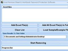 Excel Remove Sheet & Workbook Password Protection Software 7.0 Screenshot
