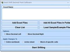 Excel Shift Decimal Point Software 7.0 Screenshot