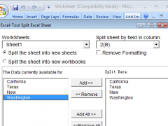 Excel-Tool Split Excel Sheet 14.7.28 Screenshot