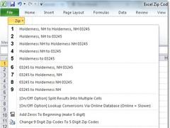 Excel Zip Codes Convert, Lookup & Format Software 7.0 Screenshot