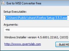 Exe to Msi Converter free 1.0 Screenshot