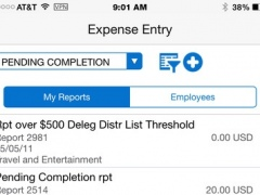 Expense Entry Smartphone for JD Edwards EnterpriseOne 2.3.0 Screenshot