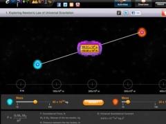 Exploriments: Newton's Law of Universal Gravitation 1.2 Screenshot