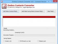 Export Zimbra Contacts to Outlook 3.1.7 Screenshot