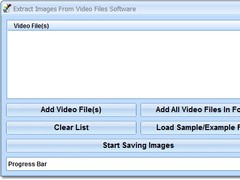 Extract Images From Video Files Software 7.0 Screenshot
