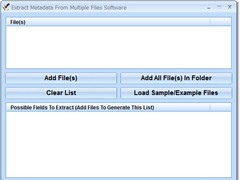 Extract Metadata From Multiple Files Software 7.0 Screenshot