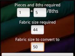 Fabric Width Calculator 1.2 Screenshot