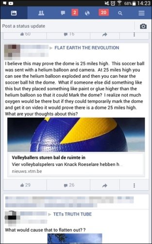Facebook Lite - yeah some people think the Earth might be flat