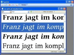 FaceList Font Selector 1.0.9 Screenshot
