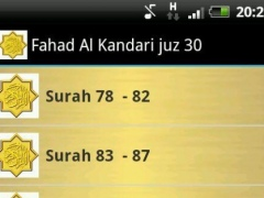 Fahad Al Kandari Quran MP3 1.3 Screenshot