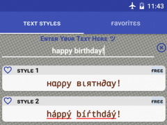 Fancy Text Generator 1.7 Screenshot