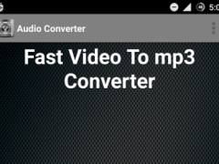 Fast Audio Extractor 1.5 Screenshot