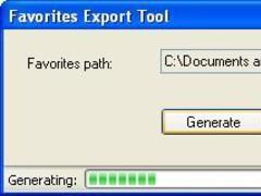 Favorites Export 1.0 Screenshot