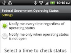 Federal Gov't Operating Status 1.2 Screenshot