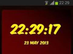 Ferrari Digital Clock 1.10 Screenshot