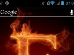 Fiery letter E Live WP 1.0 Screenshot