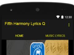 Fifth Harmony Lyrics Q 1.0 Screenshot