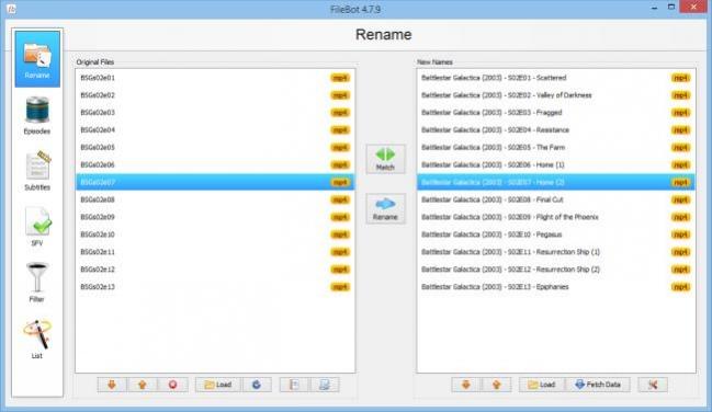 FileBot - renamer and subtitle finder