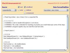 File I/O Amanuensis 6.2 Screenshot
