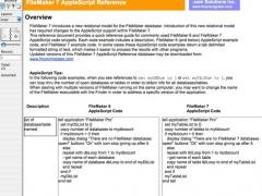FileMaker 7 AppleScript Reference 2.0 Screenshot