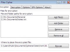 Files Cipher 2.0 Screenshot