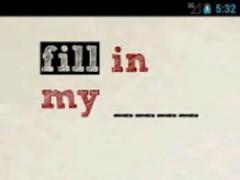 Fill In My Blank 2.20 Screenshot