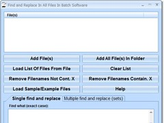 Find and Replace In All Files In Batch Software 7.0 Screenshot