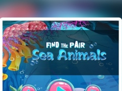 Find the Pair: Sea Animals: Free Matching Games 1.0 Screenshot