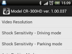 FineVu CR-300HD configuring 1.0.1 Screenshot