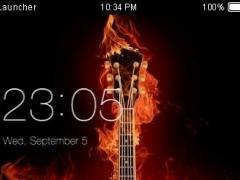 Fire Guitar CLauncher Theme HD 4.8.7 Screenshot