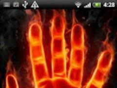 Fire Hand Live Wallpaper 2.1 Screenshot