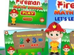 Fireman Math School: Toddler and Preschool Kids Learning Games Free 1.0 Screenshot
