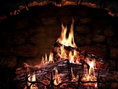 Fireplace 3D Screensaver 1.1 Screenshot