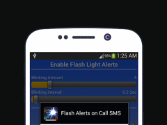 Flash Alerts On Incoming Call & SMS 1.0.3 Screenshot
