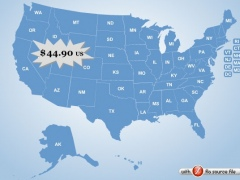 Flash Map US States Silver (with FLA source) 1.5 Screenshot