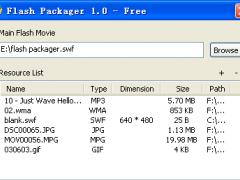 Flash Packager 2.0 Screenshot