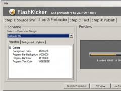 FlashKicker Flash Preloader Software 2.4 Screenshot
