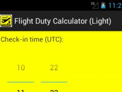 Flight Duty Calculator (Light) 1.7 Screenshot