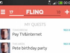 Flinq: task and to-do sharing 1.2 Screenshot