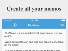 FlipMemo - Memo & Checklist 4.0 Screenshot