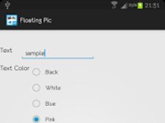 Floating Pic 1.1 Screenshot