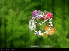 Flower Clock Live Wallpaper 4.5.3m Screenshot