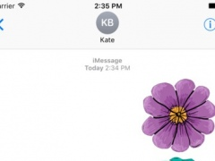 Flower Stickers Pack For iMessage 1.0 Screenshot
