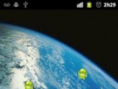 Flying Droid Live Wallpaper 1.1 Screenshot