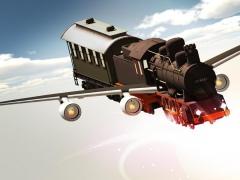 Flying Train In Sky 1.0.1 Screenshot