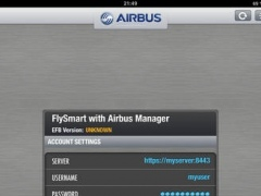 FlySmart with Airbus EFB Manager 3.0.2 Screenshot