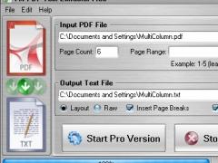 FM PDF Text Extractor Free 1.1 Screenshot